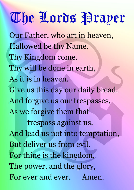 This is a graphic of Luscious The Lord's Prayer Printable
